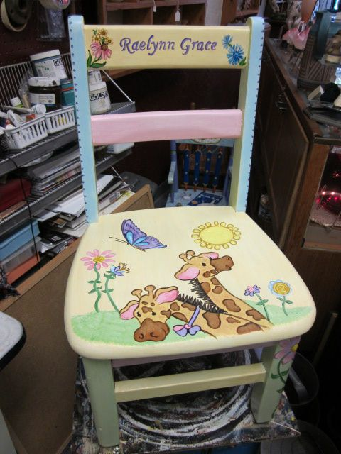 Hand Painted Childrenu0027s Chair By Cherie