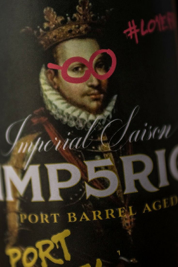 Label Design for 'Imp5rio Port Barrel Aged'. Fruity beer with some spiciness mix and a sweet, rich element from the Port Wine Barrels for contrast.