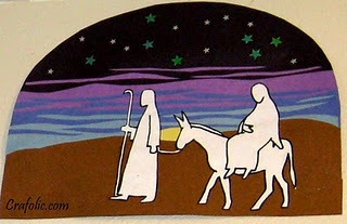Advent Countdown/Art Project. Mary and Joseph travel one ...