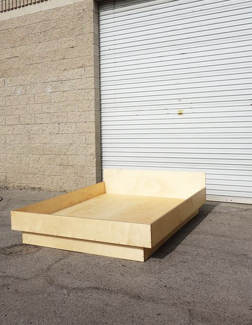 Platform bed baltic birch plywood for a private residence for Diy plywood dresser
