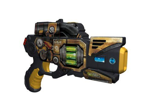 $20.53 Wowwee Light Strike Striker With Mini Target - Yellow Pistol. W3423 Features: -Striker with mini target.-Conquer individual challenges, play one-on one or create ultimate team battles.-Activate shield to take less damage from enemies.-Health meter tracks remaining life.-Respawn when health hits zero.-Interactive lights and sounds that put you on the battlefield. Color/Finish: -Color: Yellow Pistol.
