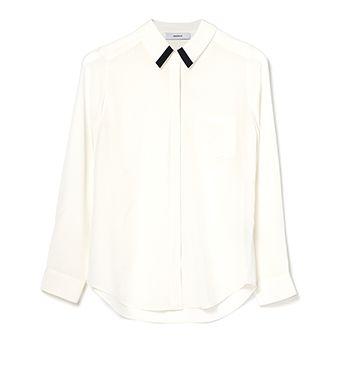 Marcs | Silk Contrast Tip Collar Shirt