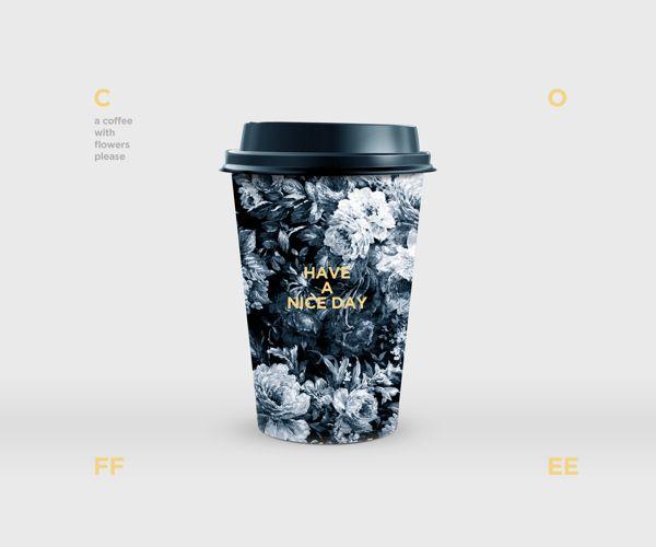 Coffee with flowers. by Dimitris Kostinis, via Behance