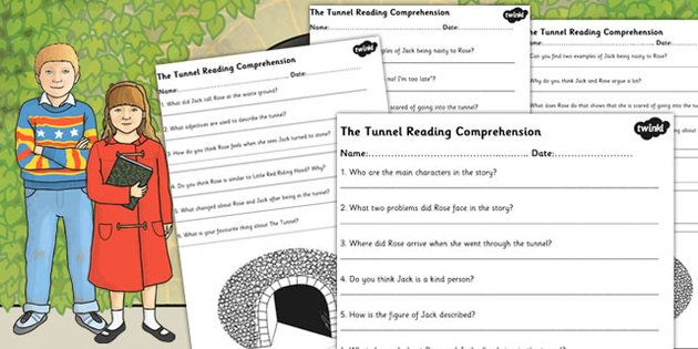 The Tunnel Anthony Browne Reading Comprehension Worksheets 4 Ability Levels