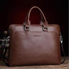 Men's Casual Genuine Leather Briefcase Shoulder Bag Messenger Business Bag New