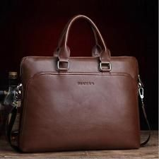 Men's Casual Genuine Leather Briefcase Shoulder Bag Messenger Business Bag New