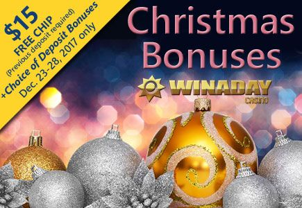 How Do I Claim The WinADay Casino Holiday No Deposit Bonus Codes?  Give it a spin for free after signing up for WinADay through a PlaySlots4RealMoney.com link or banner. As a result, this will enable you to claim your free $38 casino chip to play any gambling game at WinADay. Above all, the existing players will get no deposit bonuses according to their player status. WinADay casino has several different levels of Bronze, Silver, Gold, Platinum, and VIP. Most importantly, all WinADay casino…