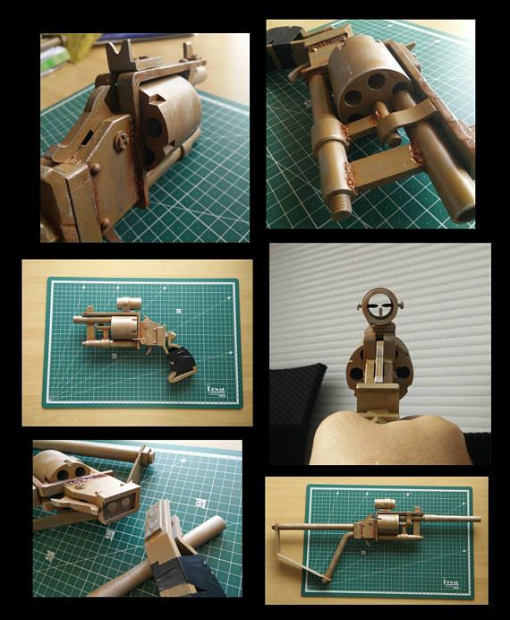 Pipe revolver with interchangeable parts  Fallout  3D
