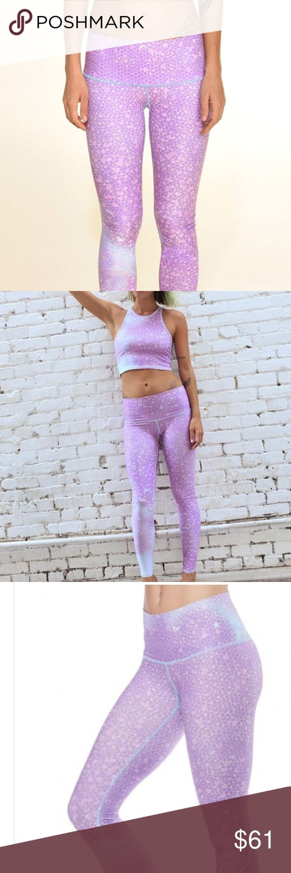 Teeki mermaid fairyqueen  lavender hot yoga pants In perfect condition. Never worn. Brand new. Size S teeki Pants Leggings