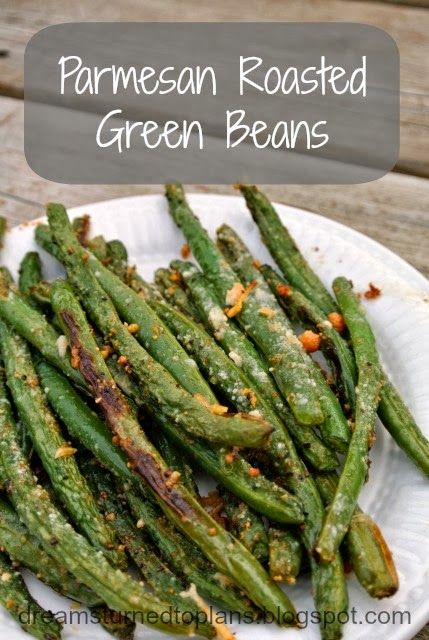 Parmesan Roasted Green Beans. (replace with reg. salt and pepper)