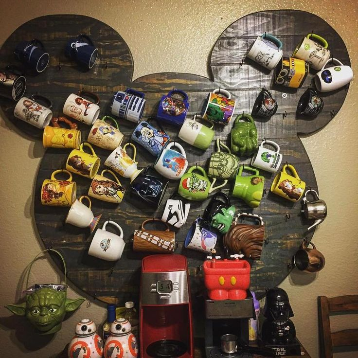 Disney's Mickey Mouse head mug holder display