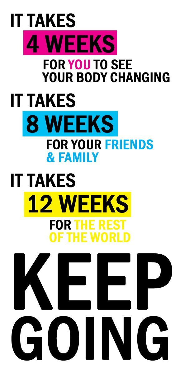 It takes four weeks for you to see your body changing..