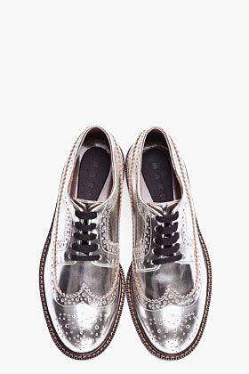 MARNI silver leather brogues.  Had I more money than sense.
