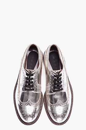 MARNI silver leather brogues.  Had I more money than sense.