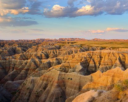 South Dakota badlands - on the way home from bringing Mike back from Alberta...looked like we were on the moon :)