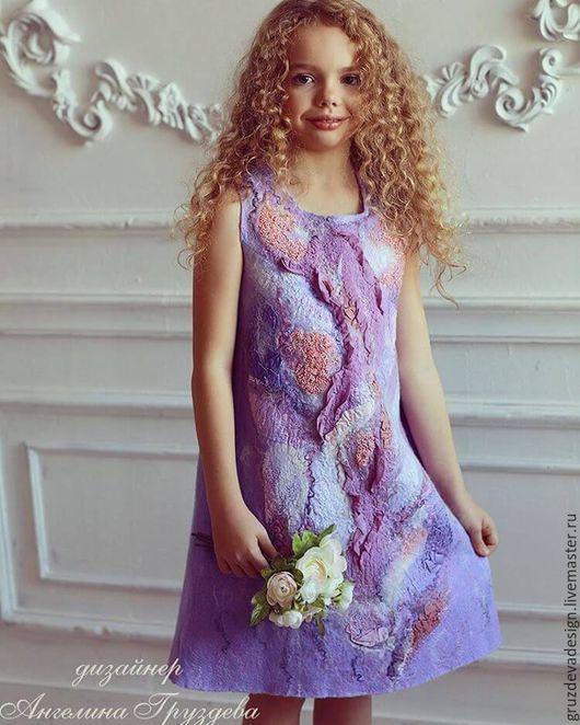 Felted dress for girl / Одежда для девочек, ручной работы. Валяное платье для девочки