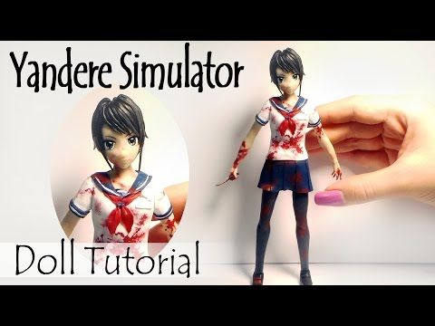 Yandere Chan Inspired Tutorial // Polymer Clay DIY - YouTube