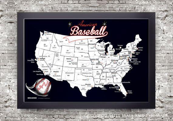 Ballpark Quest Map: Baseball Park Pin Map  Ballparks Sports