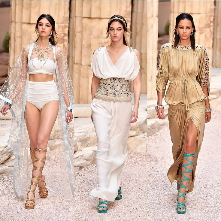 """22.1k Likes, 136 Comments - Harper's BAZAAR (@harpersbazaarus) on Instagram: """"It's official, the gladiator sandal is here to stay. @ChanelOfficial transported us to #Greece,…"""""""