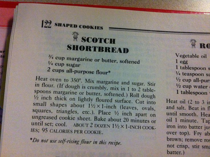 Scotch Shortbread -- Betty Crocker
