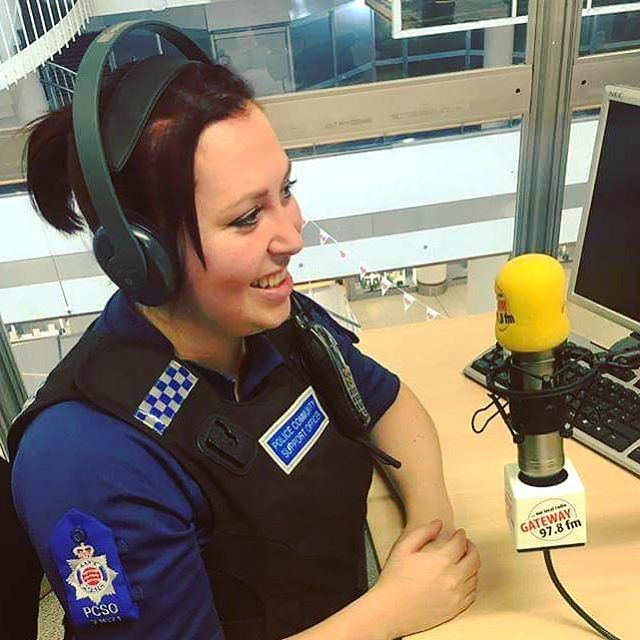 PCSO Kat Adams was a guest on Gateway FM 97.8 FM this week talking about burglary, anti-social behaviour and giving crime prevention advice.