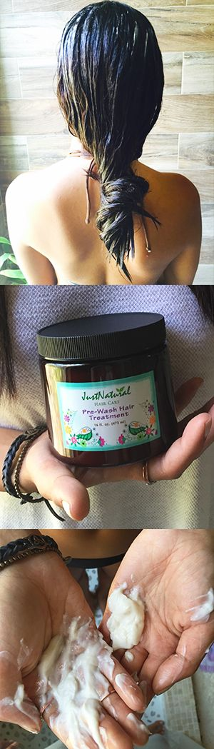 This pre-wash treatment is a leave in conditioner for hair to use just before shampooing that nourishes with moisture rich organic Kukui Nut oil with its essential fatty acids that penetrate hair strands to help repair damage and leave hair looking restored, healthy and moisturized.