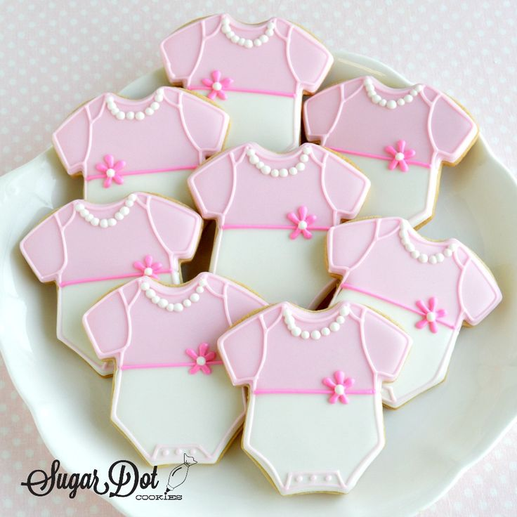 Sugar Dot Cookies: Sugar Cookies - Baby Boy and Girl Onesies