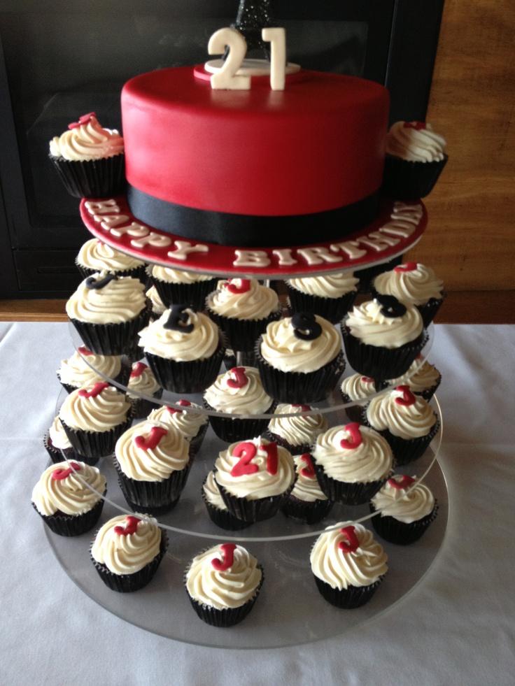 21st Eiffel Tower Cake/Cupcakes