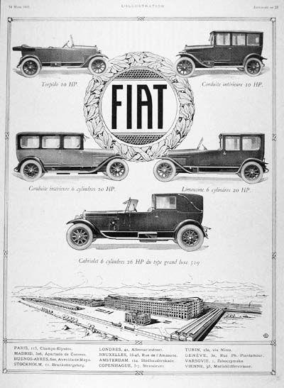 1925 Fiat Model Line   www.lomanglobal.com