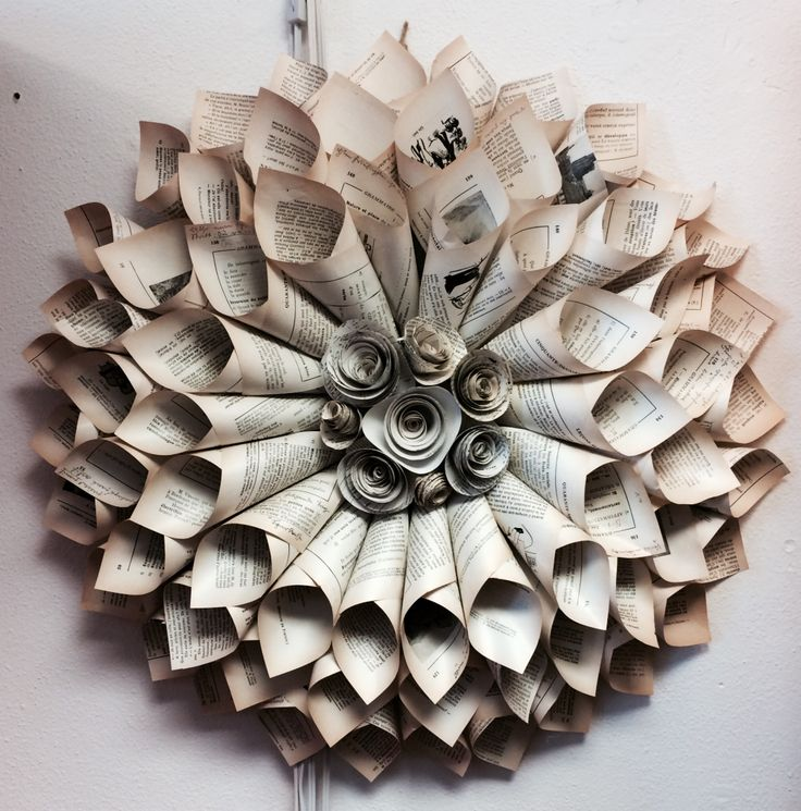 270 best make it from newspaper magazine cardboard images on vintage paper cone wreath uld use previous songbook pages to make the cones mightylinksfo