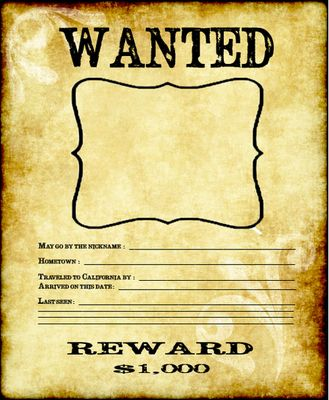 Wanted Poster from Creative Teaching - Engaging Activities for Upper Grades on TeachersNotebook.com -  (1 page)  - Wanted Poster! Gold Rush