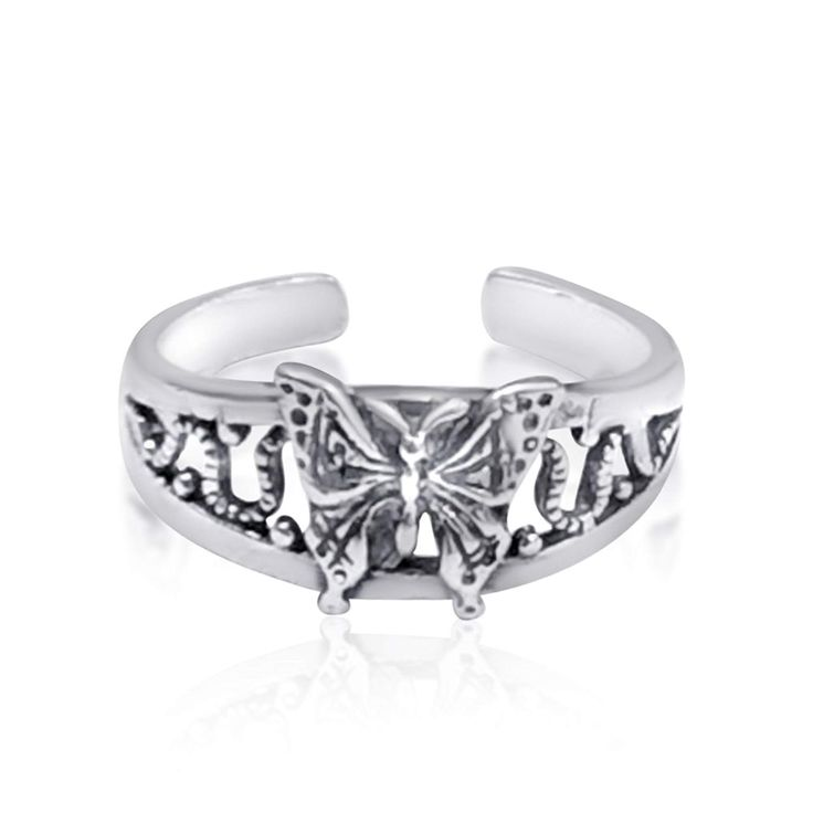 CloseoutWarehouse Cubic Zirconia Fancy Bow Tie Ring Sterling Silver