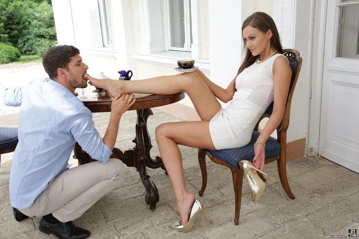 Image by Laszlo on Man kissing women feet