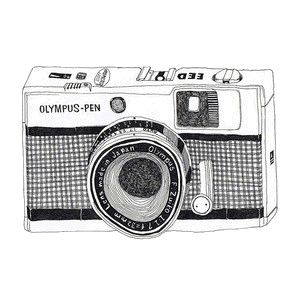 Olympus Pen. My husband had one of these when he was in Vietnam. Takes 72 pics a role!  Awesome camera.
