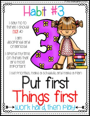 Seven Habits Posters from 1st Stop Kindergarten on TeachersNotebook.com (17 pages)