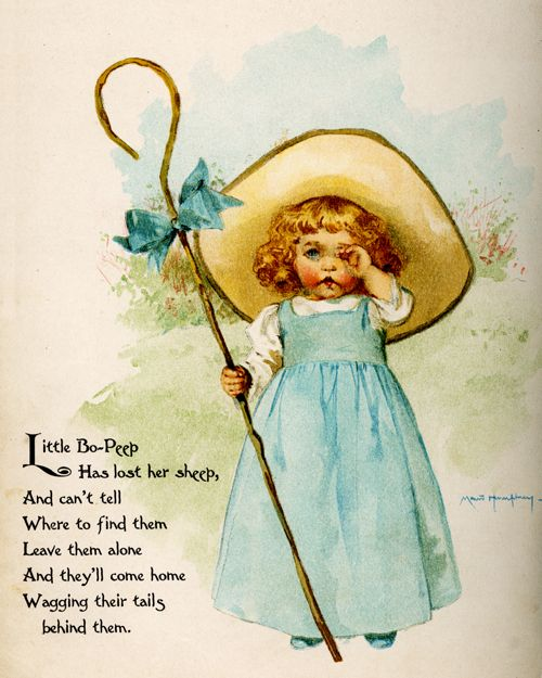 Story Book Sundays - Little Bo-Peep - Illustrated by Maud Humphrey