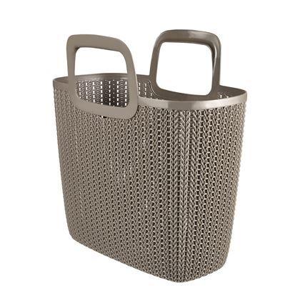 Voorkom een kast vol plastic tassen en doe je boodschappen voortaan met de Curver shoppingbasket. De stevig gevlochten tas is gemaakt van kunststof, kan veel gewicht dragen en heeft twee verstevigde handgrepen.