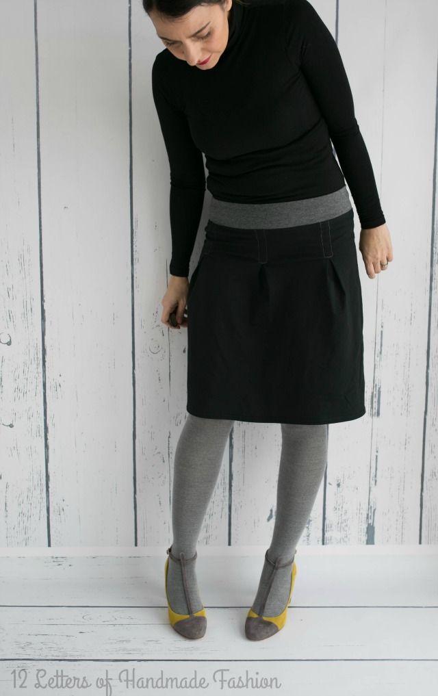Schwarzes Kleid oder ein schwarzer Rock geht immer. Genäht habe ich eine…