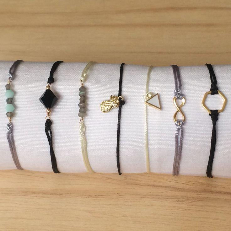 New spring-summer adjustable thread bracelets! Nuevas pulseras ajustables de hilo, ideales para primavera-verano!