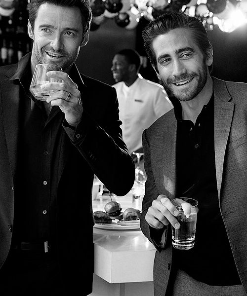 Hugh Jackman and Jake Gyllenhaal. Soo much sexiness in one picture!