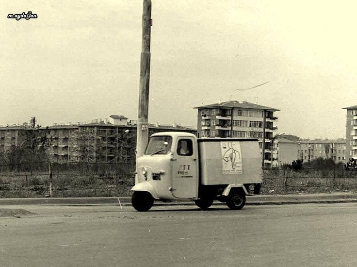 Ankara, 1972 PTT'nin posta dağıtım amacıyla kullandığı bir triportör