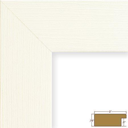 Craig Frames Bauhaus 200, Modern White Oak Picture Frame, 8.5x11 Inch