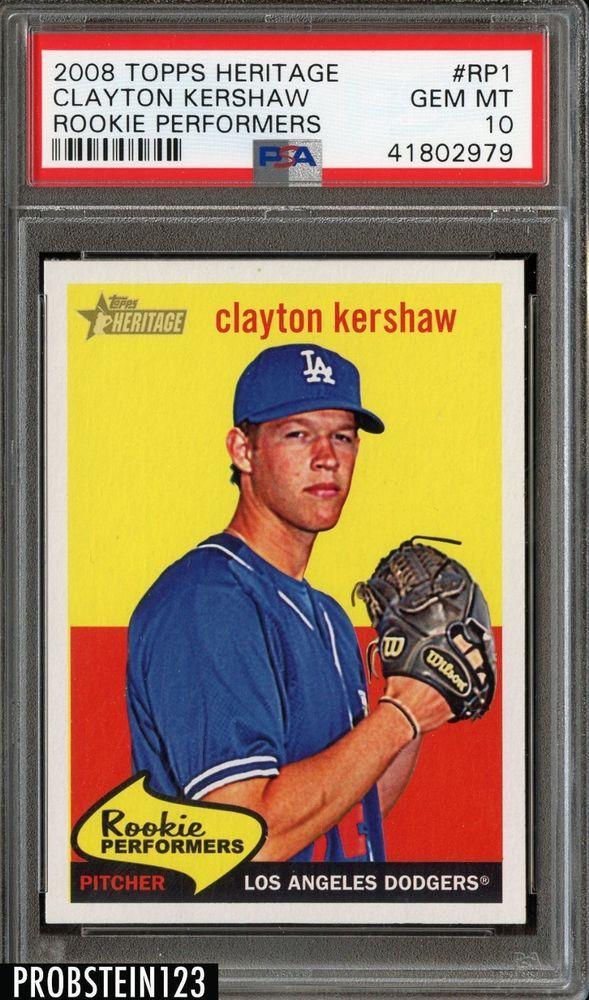 2008 Topps Heritage Rookie Performers Clayton Kershaw