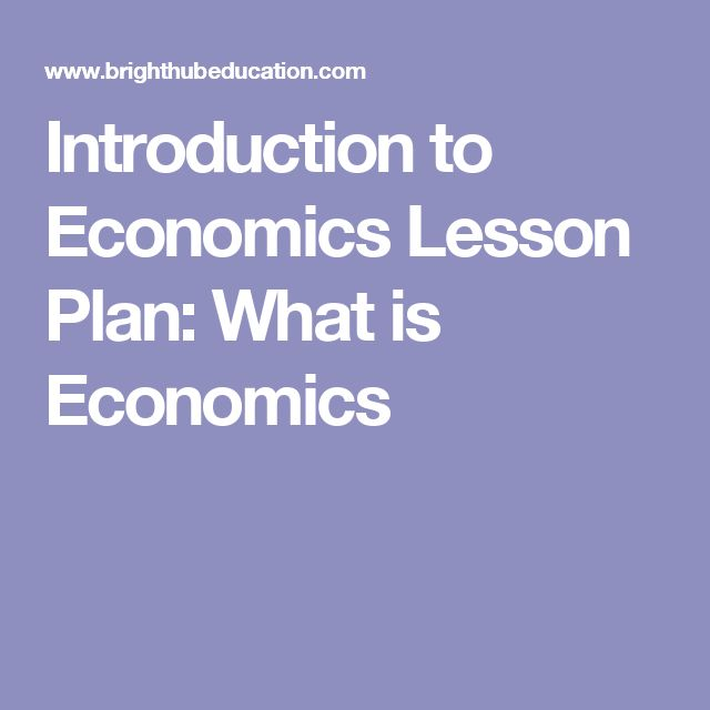 Introduction to Economics Lesson Plan: What is Economics