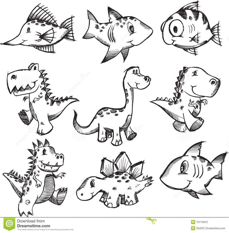 Sketchy Doodle Animal Set - Download From Over 39 Million High Quality Stock Photos, Images, Vectors. Sign up for FREE today. Image: 10715812