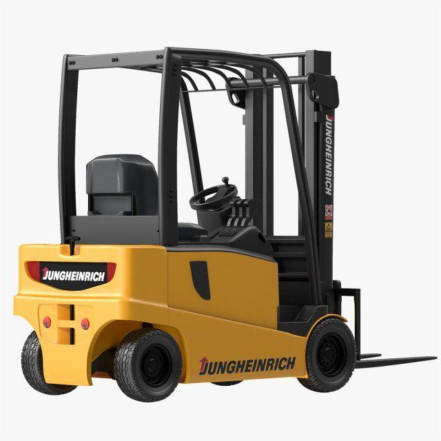 Forklift Jungheinrich 04 3D Model .max .c4d .obj .3ds .fbx .lwo .stl @3DExport.com by souhail3d