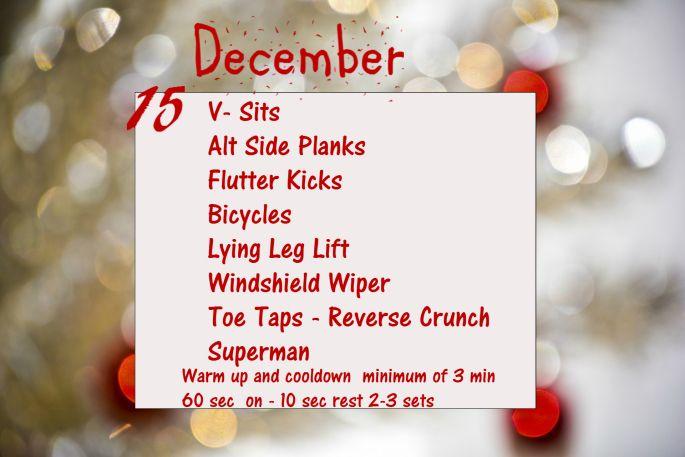 December Fitness Challenge- Day 15