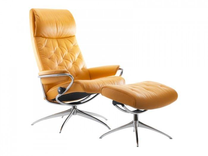 høy hvilestol m/krakk - Stressless - Stressless® Metro - Møbelringen
