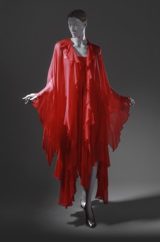 Womans Evening Dress and Cape Halston (Roy Halston Frowick) (United States, 1932-1990) United States, 1981
