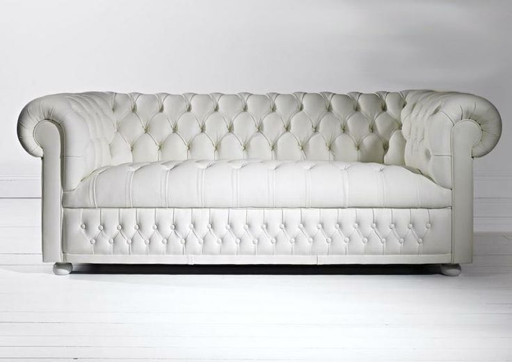 White leather chesterfield - love